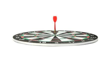 Dart board with color arrow hitting target Banco de Imagens - 128780043