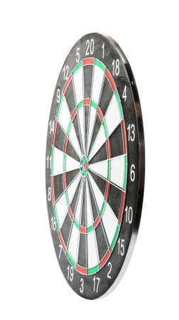 New empty dart board isolated on white Banco de Imagens - 128771716