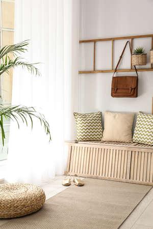 Cozy hallway interior with new stylish furniture 写真素材