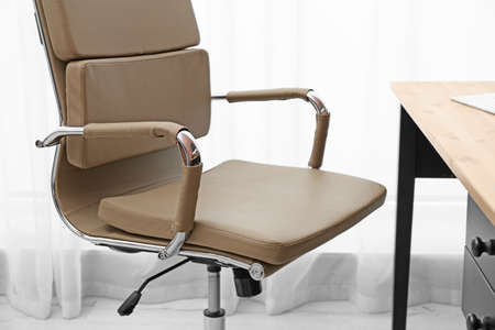 Modern office chair in stylish workplace interior 写真素材 - 128831971