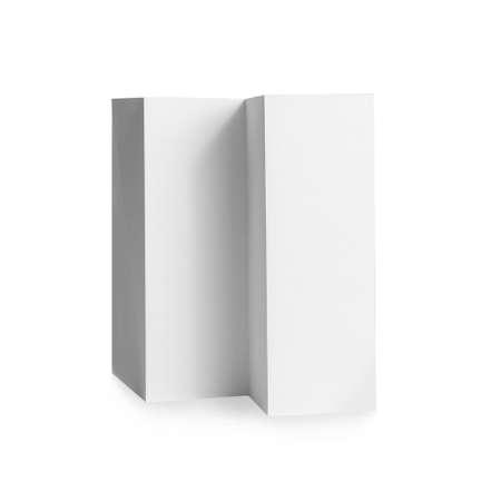 Blank brochure on white background. Mock up for design Stockfoto