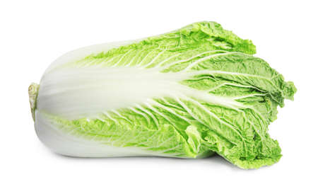Fresh tasty ripe Chinese cabbage on white background 写真素材 - 129531692