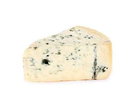 Piece of tasty blue cheese isolated on white