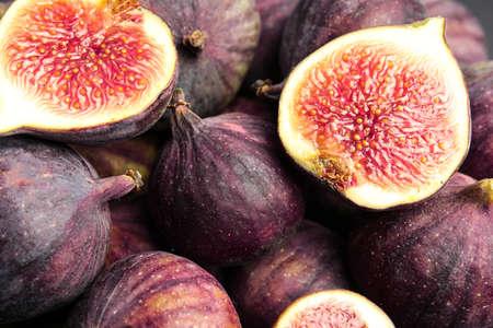 Leckere reife Feigenfrüchte als Hintergrund, Nahaufnahme
