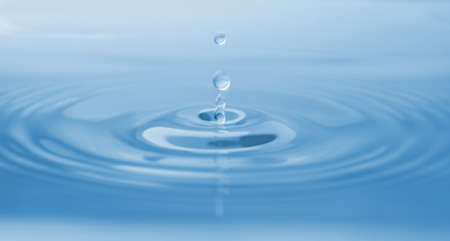 Splash of water with drops as background, closeup
