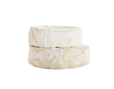 Tasty camembert and brie cheeses isolated on white Фото со стока - 129794018