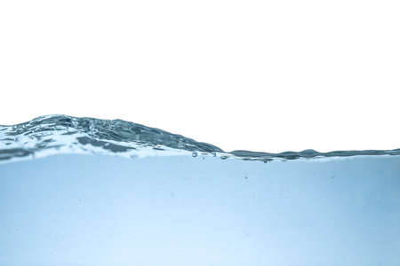 Clear fresh water wave on blue background