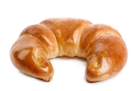 Fresh delicious sweet pastry on white background