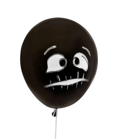 Spooky balloon for Halloween party on white background