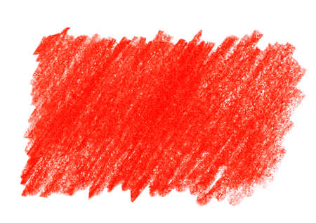 Red pencil hatching on white background, top view