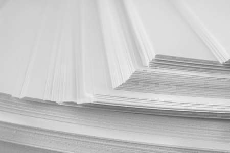 Stack of blank paper as background, closeup