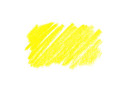 Yellow pencil hatching on white background, top view