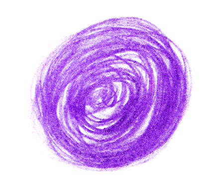 Purple pencil scribble on white background, top view