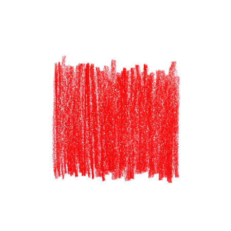 Red pencil hatching on white background, top view 스톡 콘텐츠