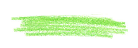 Green pencil hatching on white background, top view 스톡 콘텐츠