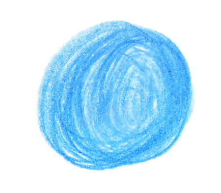 Blue pencil scribble on white background, top view 版權商用圖片 - 133335822