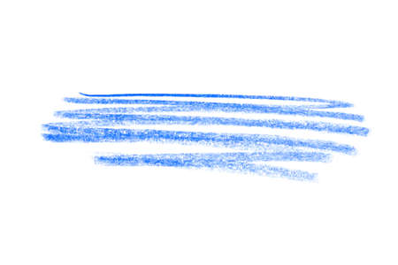 Blue pencil hatching on white background, top view