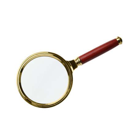 Stylish classic magnifying glass isolated on white