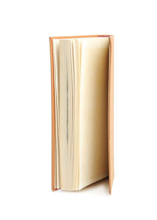 Book with hard cover isolated on white