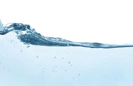 Beautiful clear water splash isolated on white Archivio Fotografico
