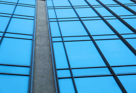 Modern building with tinted windows, low angle view Imagens