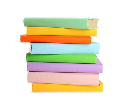 Stack of colorful books isolated on white Reklamní fotografie