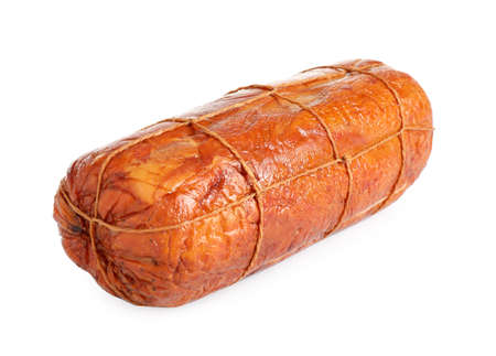 Tasty ham isolated on white. Fresh delicacy