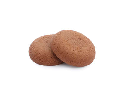 Tasty homemade chocolate cookies on white background Archivio Fotografico - 137770862