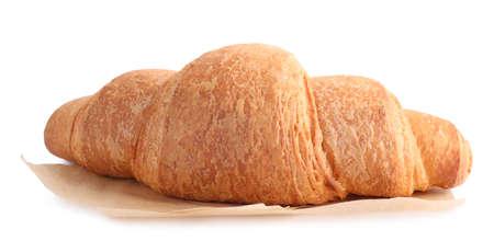 Tasty fresh crispy croissant isolated on white Archivio Fotografico - 137790528