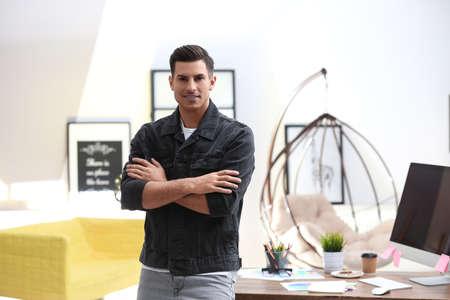 Portrait of male designer in office. Creative profession Stock Photo