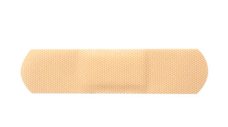 Medical sticking plaster isolated on white. First aid item