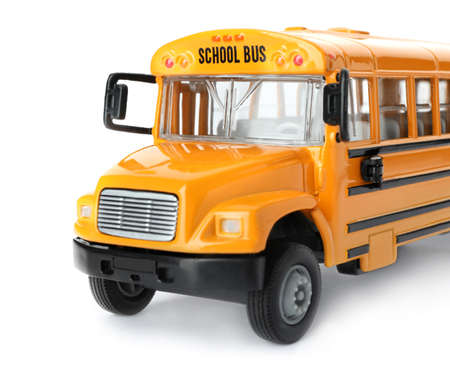Yellow school bus isolated on white. Transport for students Reklamní fotografie