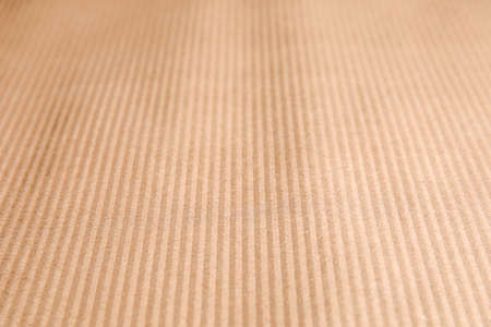 Brown corrugated sheet of cardboard as background, closeup