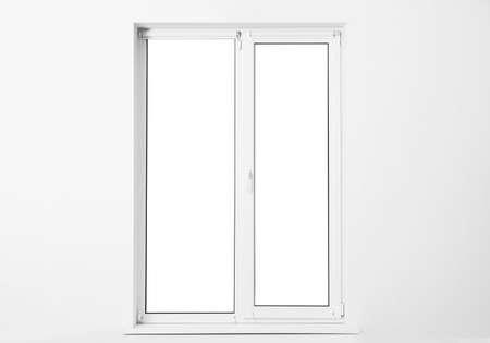White wall with modern window in empty room Stock fotó