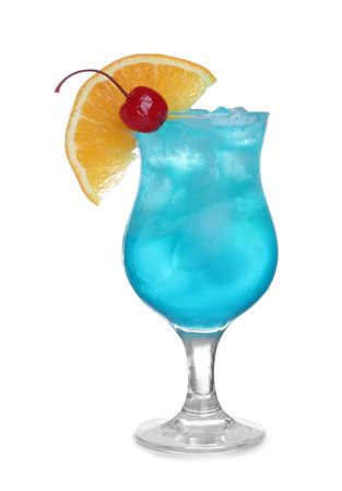 Fresh alcoholic cocktail isolated on white