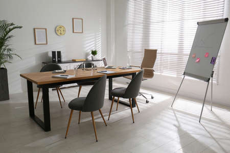 Conference room interior with modern office table Imagens
