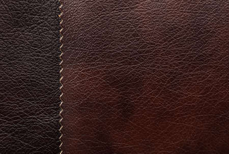 Leather samples of different colors for design as background, closeup Foto de archivo