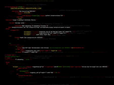 Illustration of source code written in programming language