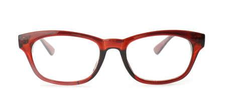 New modern elegant glasses isolated on white