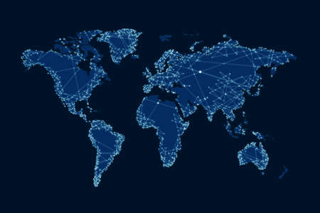 Illustration of world map. Travel agency concept Archivio Fotografico