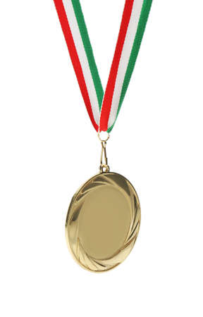 Gold medal isolated on white. Space for design