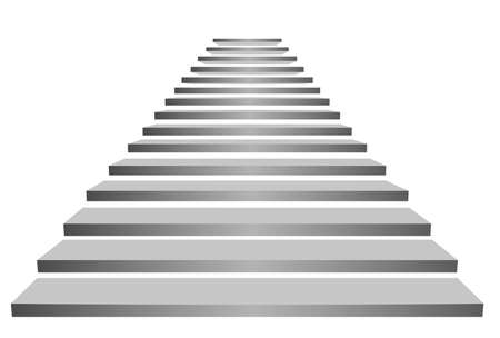 Illustration of stairs on white background. Way to success Standard-Bild