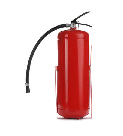 Fire extinguisher isolated on white. Safety tool Banque d'images