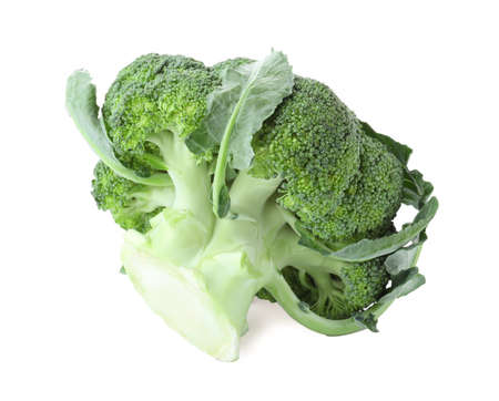 Fresh green broccoli isolated on white. Organic food Stok Fotoğraf