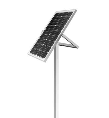 Modern solar panel isolated on white. Alternative energy source Stock Photo