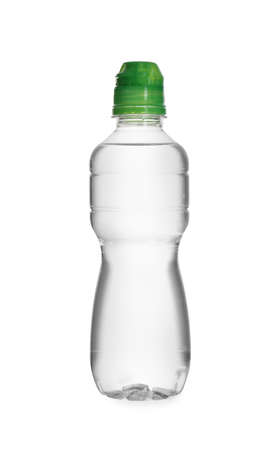 Plastic bottle of pure water isolated on white Imagens