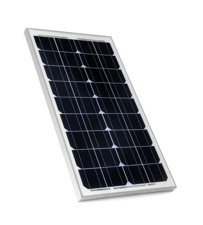 Solar panel isolated on white. Alternative energy source
