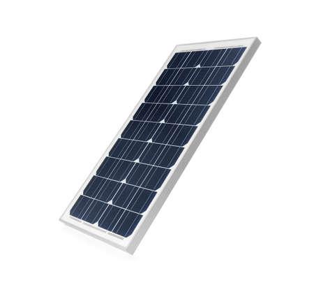 Solar panel isolated on white. Alternative energy source Stock Photo