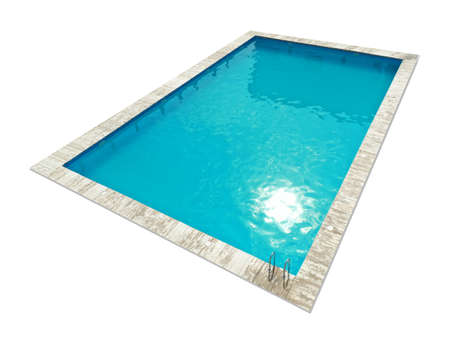 Swimming pool with cool water isolated on white