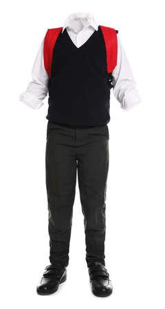 School uniform for boy on white background